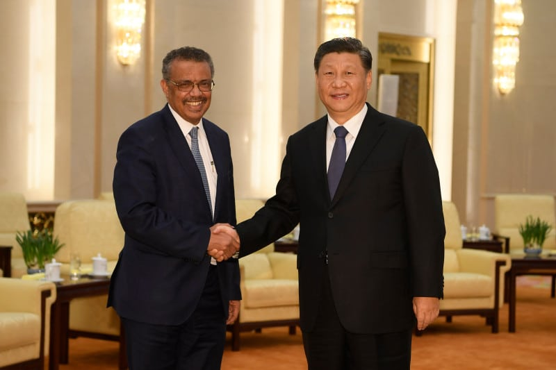 Director General Of The World Health Organization, Tedros Adhanom, Visit To Beijing