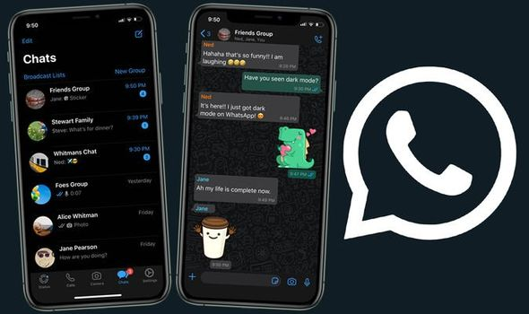 Dark Mode of WhatsApp