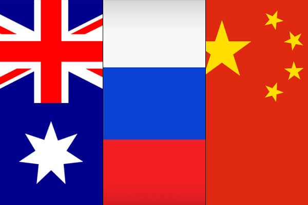 Australia accuses China and Russia of misinformation by virus