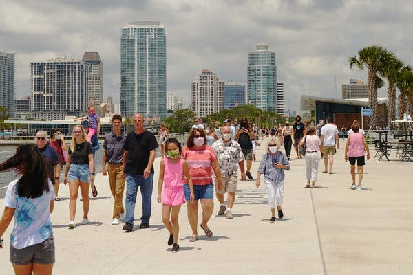 Florida sets one-day record with over 15,000 new coronavirus cases, more than most countries