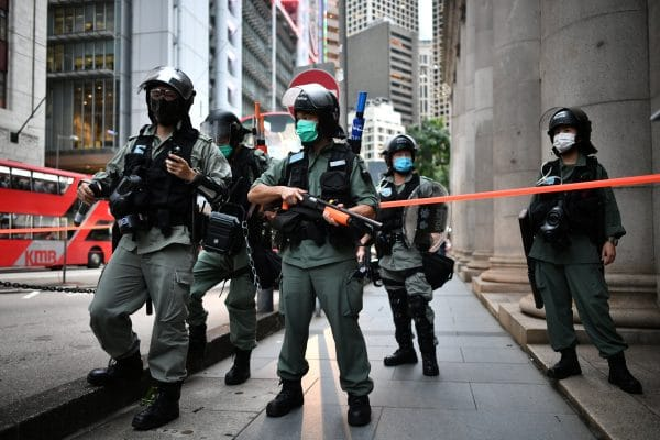Police in Hong Kong gave sweeping security surveillance powers